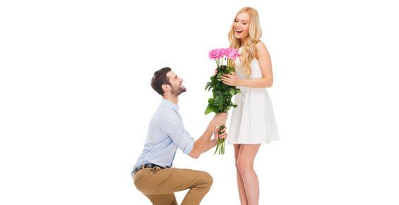 プロポーズには花束を?