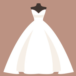 ウェディングドレス プリンセスライン