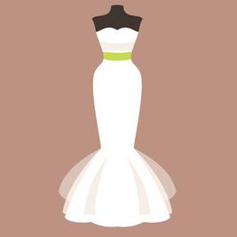 ウェディングドレス マーメイドライン