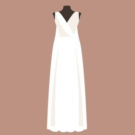 ウェディングドレス スレンダーライン