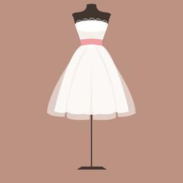 ウェディングドレス ベルライン、ミニ