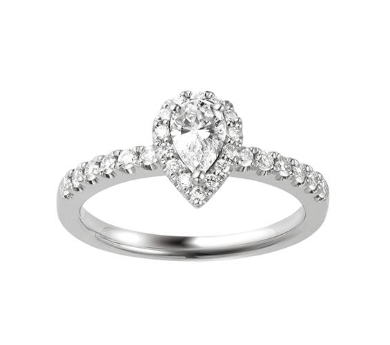 ポンテヴェキオ ブライダル 結婚指輪 婚約指輪 ペアシェイプ ファンシーカット 大人婚